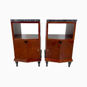 French Art Deco Bedside Tables, 1930s, Set of 2