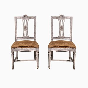 20th-Century Gustavian Carved Chair