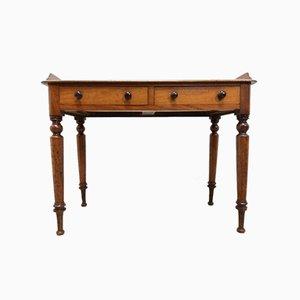 Antiker viktorianischer Konsolentisch mit Schubladen