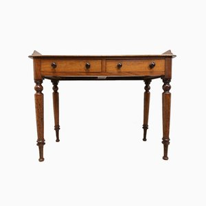 Antique Victorian Console Table with Drawers