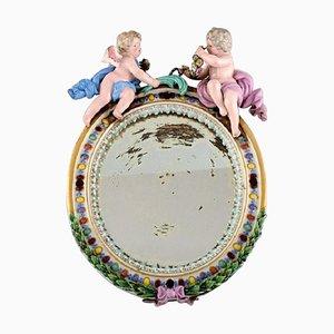 Miroir Antique en Porcelaine de Meissen