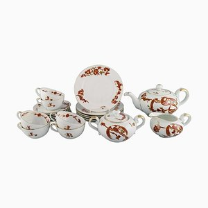 Tea Service Set in Hand-Painted Porcelain from Rosenthal, Set of 21