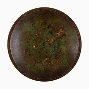 Art Deco Dish or Bowl in Bronze by Just Andersen, 1940s