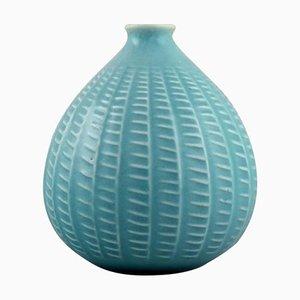 Onion-Shaped Vase in Rimini-Blue Glazed Ceramics by Aldo Londi for Bitossi