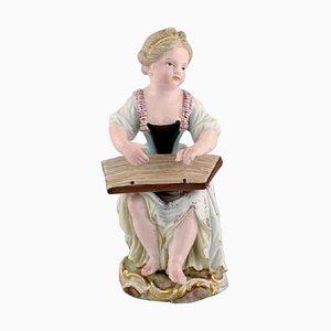 Antike Figur aus handbemaltem Porzellan von Meissen