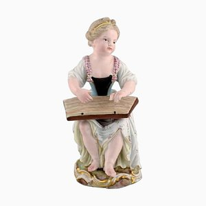 Antique Figure in Hand-Painted Porcelain from Meissen