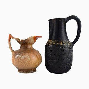 Danish Jugs in Glazed Stoneware, 1960s, Set of 2