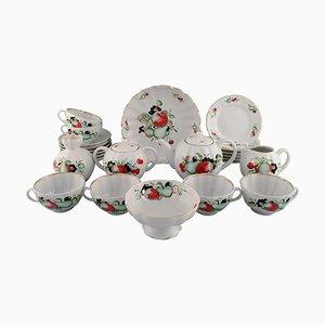 Large Tea Service Set from Imperial Lomonosov Porcelain Factory, Set of 24