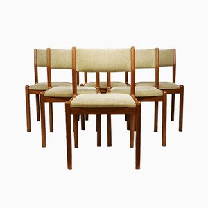Mid-Century Danish Upholstered Teak Dining Chairs From J.L. Moller, 1960s, Set of 6