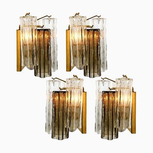 Smoked and Clear Glass Wall Light by J.T. Kalmar, Austria, 1960s