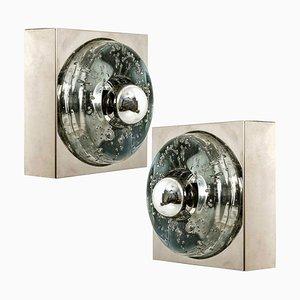 Handgeblasene Wand- oder Deckenlampen von Doria, 1970, 2er Set