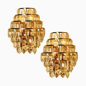 Modern Crystal Glass Wall Sconces from Bakalowits, 1960s, Set of 2