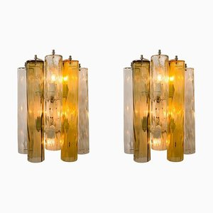 Wandlampen aus Murano Glas von Barovier & Toso, 2er Set