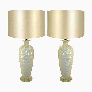 Murano Tischlampen von Ravagnan Gabiani, Italien, 1960er, 2er Set