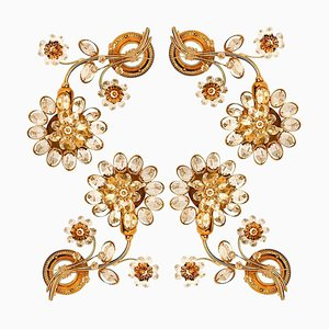 Flower Crystal Wall Light or Sconce from Palwa
