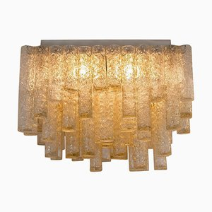 Large Modern Square Blown Flush Mount from Doria, 1960s