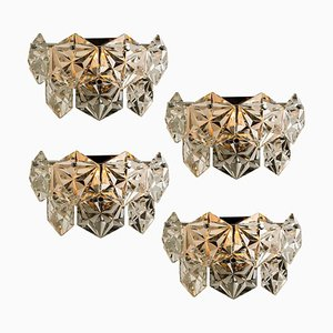 Faceted Crystal and Chrome Sconces from Kinkeldey, Germany, 1970s