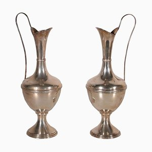 Silver Vases, Set of 2
