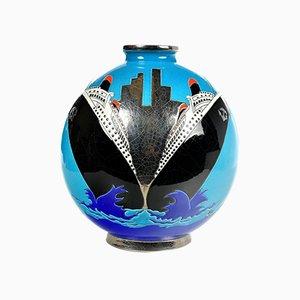 Enameled Vase by Danillo Curetti