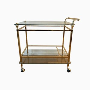 Hollywood Regency Bicolor Serving Trolley Bar Cart