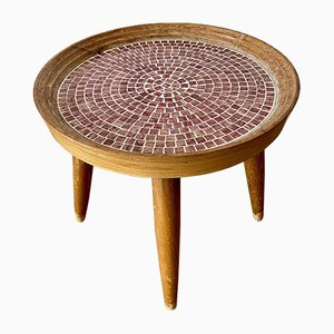 Mid-Century Flower Stool with Mosaic Plate, 1950s