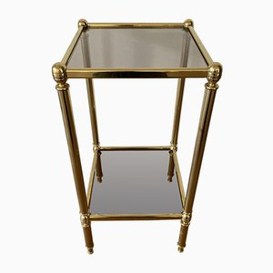 Golden Side Table Bedside Table Flower Stand from Musterring, 1970s