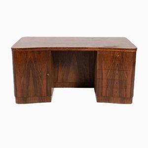 Sculptural Danish Modern Curved Rosewood Desk, 1950's