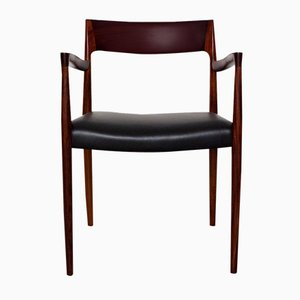 Model 57 Rosewood Armchair by Niels Moller for J.L. Moller, 1959