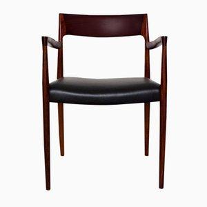 Modell 57 Armlehnstuhl aus Palisander von Niels Moller für J.L. Moller, 1959