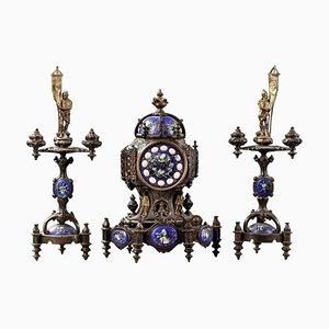 Violet Le Duc Style Fireplace Set, Set of 3