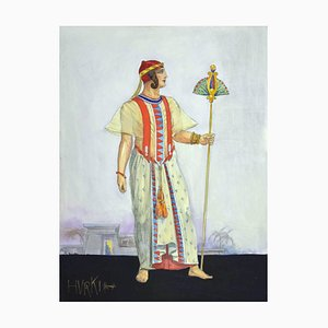 Unknown, Hurki Costume for an Opera, Pencil and Watercolor, 1930s