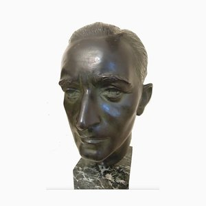 Eugenio Pellini, Der Architekt Joseph Martinenghi, Bronze Skulptur, 1920