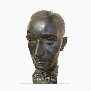 Eugenio Pellini, The Architect Joseph Martinenghi, Bronze Sculpture, 1920