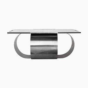 Square Steel Table by François Monnet, 1970s