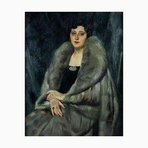 Luigi Polverini, Portrait of a Roman Noblewoman, Painting, 1935