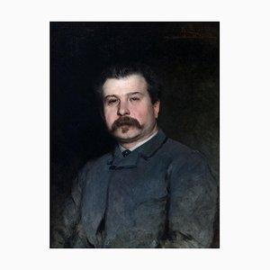 Edoardo Gelli, Porträt von Augusto Rivalta, Ölgemälde, 1884