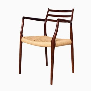 Model 62 Rosewood Armchair by Niels Møller for J.L. Møllers, 1962