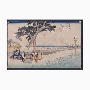 Utagawa Hiroshige, Fukuroi Dejaya No Zu, Woodcut, 1832