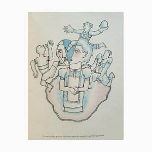 Le Secret Professionnel, Vintage Book Illustrated by Jean Cocteau, 1925