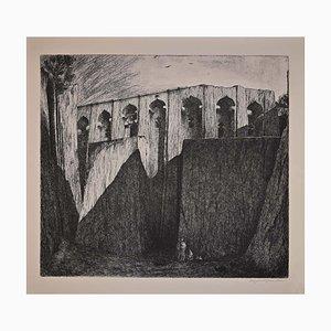 Lino Bianchi Barriviera, Lalibela, Biet Gabriel, Radierung, 1941