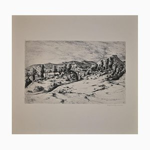 Lino Bianchi Barriviera, Lalibela, Biet Gabriel, Etching, 1942