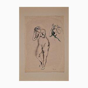 Renato Guttuso, Desperate Nude, China Ink, 1942