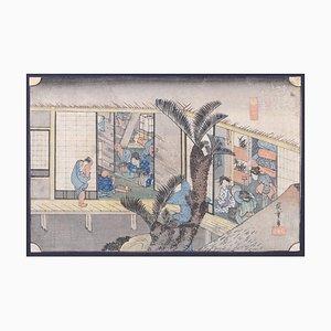 Utagawa Hiroshige, Akasaka, Woodcut, 1831