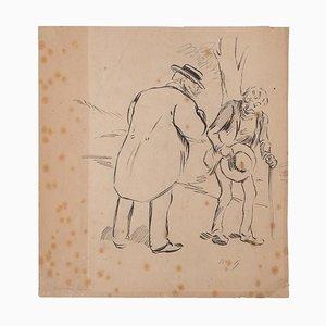 Paul Hermann, Figuren, Bleistift, frühes 20. Jahrhundert