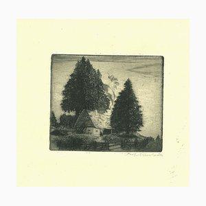 Unknown, Country Cottage, Radierung, 19. Jahrhundert