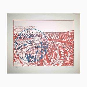 Constantine Persians, Rome, Colosseum Interior, Screen Print, 1972