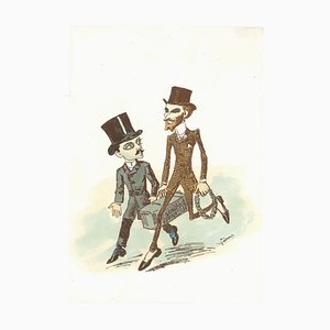 Unknown, Caricatured, Lithograph, 19th Century
