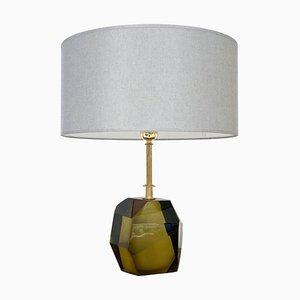 Mid-Century Green Murano Table Lamp, Italy, 1950s