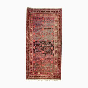 Red and Brown Pomegranate Handmade Rug, 1900s