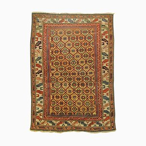 Golden Yellow Eight-Pointed Stars Rug, 1850s